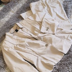 WHBM 3/4 Sleeve 2pc Pant Suit Set